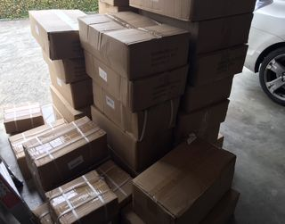 The shipment of the new products have finally arrived.