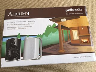 Polk Audio Atrium 4 Outdoor Speakers Pair White Outdoor Home Speakers