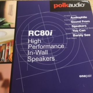 Polk Audio RC80i 2 way  In-Ceiling Speakers ( A pair )
