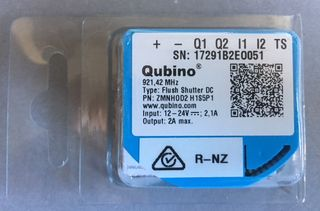 Qubino Flush Shutter DC Z-Wave Plus DC power roller blinds controller