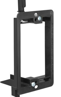 Low Voltage Mounting Bracket, 1-Gang, Black