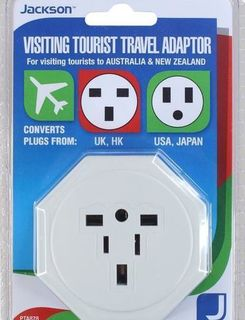 JACKSON Travel Adaptor, Converts USA, UK & Japanese Plugs  PTA878