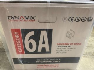 Dynamix C-C6AUTP -SLD 23AWG Solid 4 Pairs CM Grey  Cat6A UTP Cable Roll , 550 MHz, 305m