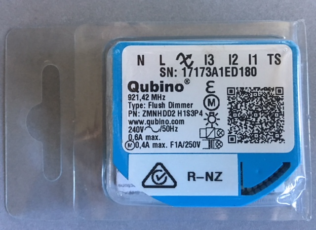 Qubino Flush Dimmer ZMNHDD2  Aus/NZ Frequency 921.42 MHz